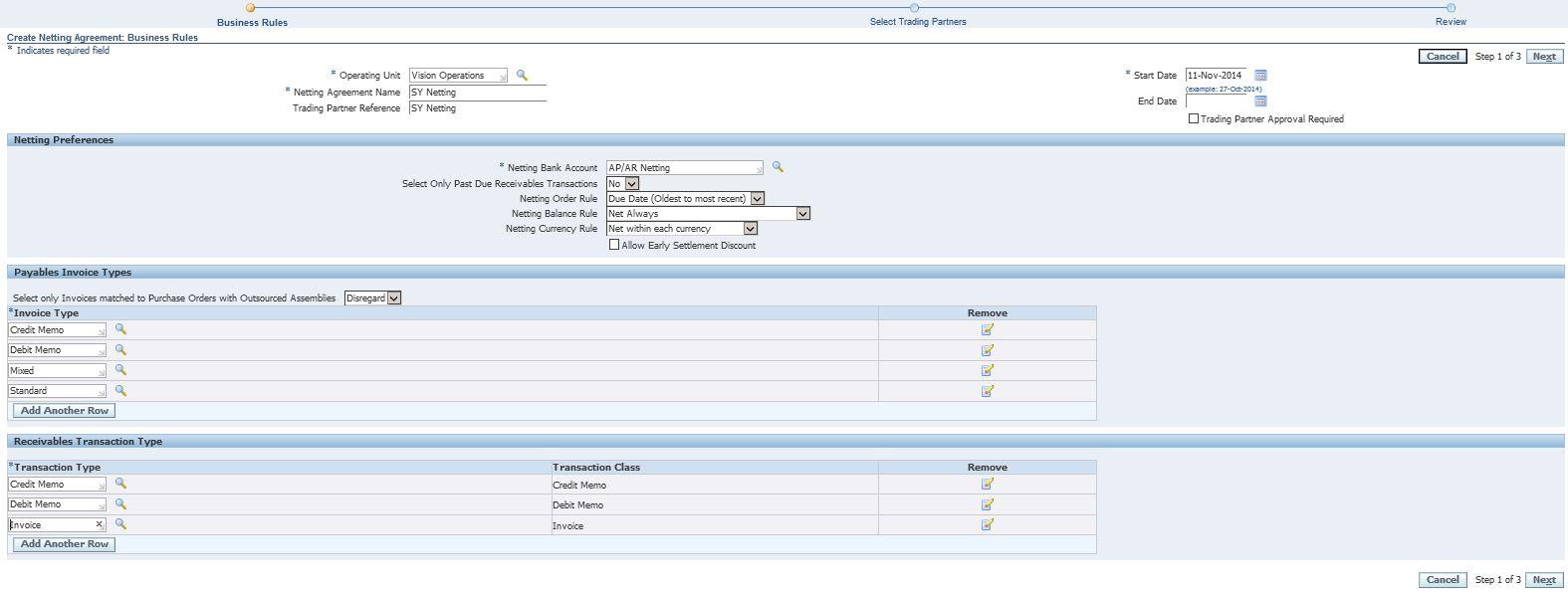 Apar Netting In R12 Oracle Blog